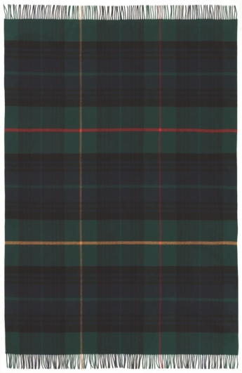 Tartan Plaid Blackwatch, 100% Wolle - 130 x 195