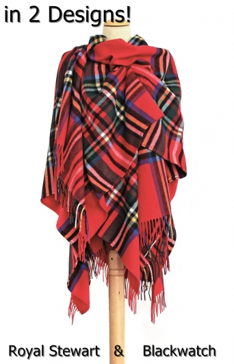 Tartan Cape Schottenkaro o. Blackwatch, 100% Wolle (Geelong)