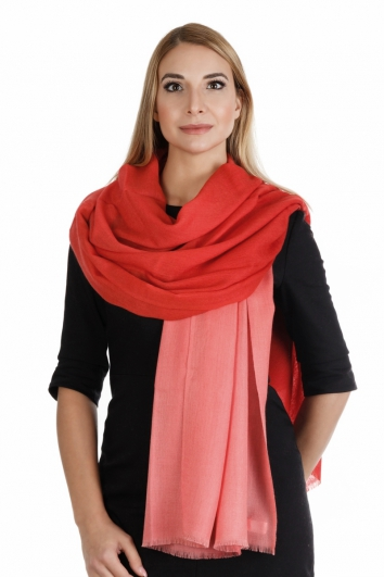 Pashmina Stola 100% Kaschmir, 70 x 200 cm, Multicolor - Faded Rose