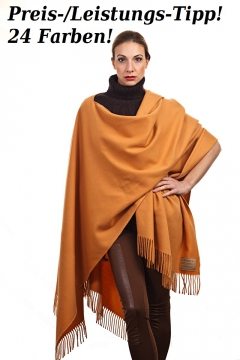Poncho / Cape in 24 Farben, 100% Wolle / Lambswool, 130 x 190